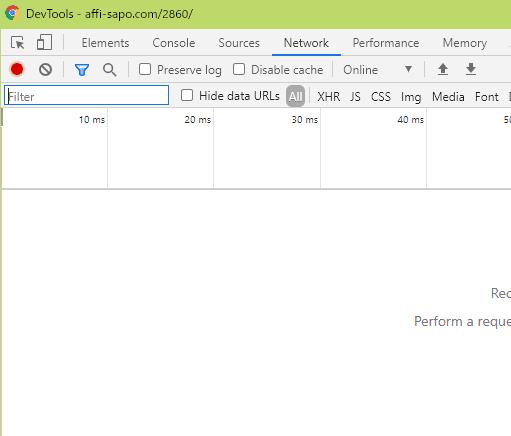 Google Chrome Networkタブ