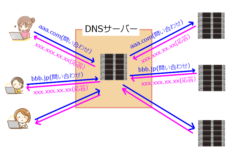 DNSサーバー役割