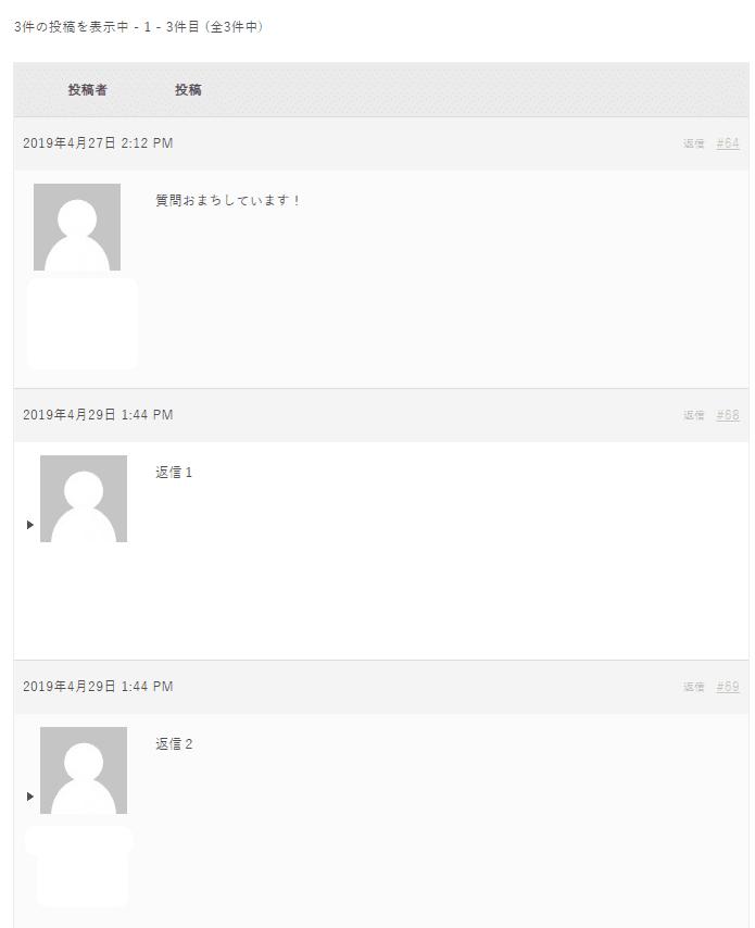 賢威8にbbpressを入れて表示が乱れた返信画面(修正後)